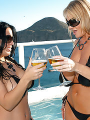 Kelly and Sienna wear tiny black bikini's in Cabo. They fuck in a pool outside and get wet wet WET!
