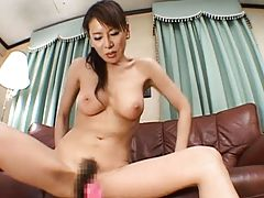 Rei Kitajima naughty school teacher has her pussy stimulated