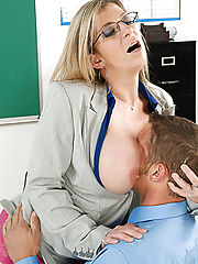 Hardcore Office, Sara Jay shows her student what it's like to fuck a teacher with huge tits.