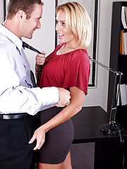 Office Sex, Jamey Janes gets fucked hard in the office!
