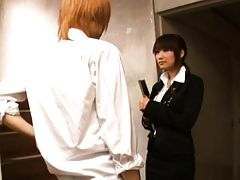 Kirara Kurokawa asian teacher gives her student a blowjob