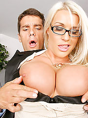 Hardcore Office, Amazing big tits blonde sadie decides to fire the employee who fucks her worst in these hot office desk banging update